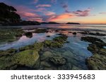 Low Tide During Sunset On...