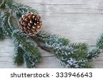 winter decoration with snowy ... | Shutterstock . vector #333946643