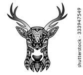 fantasy black deer. vector...   Shutterstock .eps vector #333947549