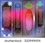 elegant banner from flat line... | Shutterstock .eps vector #333949454