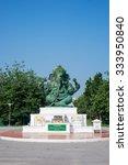 Small photo of Petchburi,Thailand,22 October 2015 :Ganesh statue at Silpakorn University,sign of Silpakorn University.