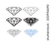 vector diamond icon or logo... | Shutterstock .eps vector #333956690