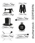 set of tailor shop black badges ... | Shutterstock .eps vector #333958496