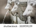 Sculpture Of Lion Head...