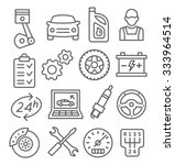 auto service line icons | Shutterstock .eps vector #333964514