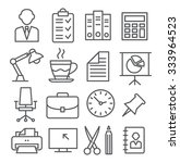 office line icons | Shutterstock .eps vector #333964523