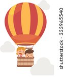 kids and balloon. | Shutterstock .eps vector #333965540