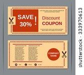 discount coupon  gift voucher ... | Shutterstock .eps vector #333970613