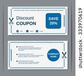 discount coupon  gift voucher ... | Shutterstock .eps vector #333970619