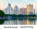 bangkok city downtown at dusk... | Shutterstock . vector #333970796