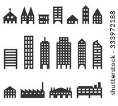 vector building icons set | Shutterstock .eps vector #333972188