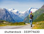 hitchhiking tourism concept... | Shutterstock . vector #333974630