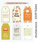 thanksgiving gift tags... | Shutterstock .eps vector #333976364