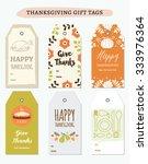 thanksgiving gift tags... | Shutterstock .eps vector #333976364