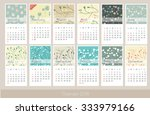 simple floral 2016 year vector... | Shutterstock .eps vector #333979166
