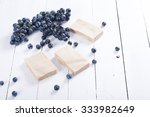 handmade soaps from red grapes...   Shutterstock . vector #333982649