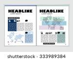 business economy magazine ... | Shutterstock .eps vector #333989384