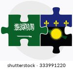 saudi arabia and guadeloupe... | Shutterstock .eps vector #333991220