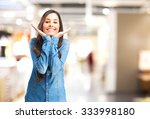 happy young woman smiling | Shutterstock . vector #333998180