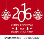 postcard with christmas and new ... | Shutterstock . vector #334002839