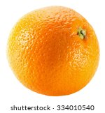 orange isolated on the white... | Shutterstock . vector #334010540