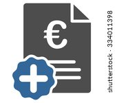 euro medical invoice glyph icon.... | Shutterstock . vector #334011398