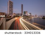 brisbane city cbd at night ... | Shutterstock . vector #334013336