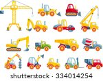 different kind of toys heavy... | Shutterstock .eps vector #334014254