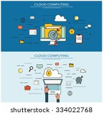 cloud computing concept | Shutterstock .eps vector #334022768