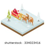 santa claus grandfather frost ... | Shutterstock .eps vector #334023416
