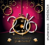 2016 happy new year and merry... | Shutterstock .eps vector #334036214
