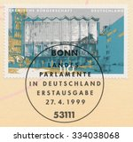 germany   circa 1999  a post... | Shutterstock . vector #334038068