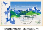 germany   circa 1999  a post... | Shutterstock . vector #334038074