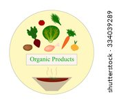 organic food. organic products. ... | Shutterstock .eps vector #334039289