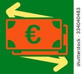 euro money transfer glyph icon. ... | Shutterstock . vector #334040483