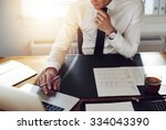 business man working at office... | Shutterstock . vector #334043390