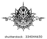 lotus flower.tattoo | Shutterstock .eps vector #334044650