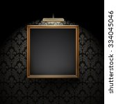 vector picture frame on wall | Shutterstock .eps vector #334045046