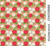 seamless pattern with cartoon... | Shutterstock .eps vector #334058888