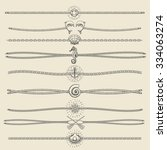 set of nautical ropes and... | Shutterstock .eps vector #334063274