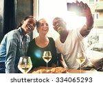 group of multi ethnic friends... | Shutterstock . vector #334065293