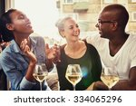 group of multi ethnic friends... | Shutterstock . vector #334065296