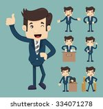 set of business people   eps10... | Shutterstock .eps vector #334071278