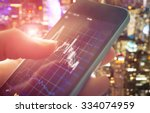 making trading online on the... | Shutterstock . vector #334074959