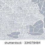 abstract city plan.  editable... | Shutterstock .eps vector #334078484