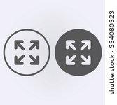 full screen icon set in circle ....
