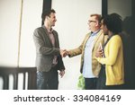 business people meeting... | Shutterstock . vector #334084169