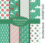 merry christmas and happy new... | Shutterstock .eps vector #334087163