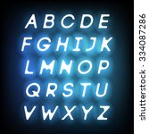 neon vector alphabet. letters... | Shutterstock .eps vector #334087286