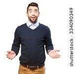 surprised cool man | Shutterstock . vector #334090349